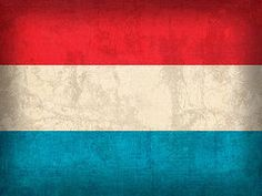 Luxembourg Flag Art - Luxembourg Flag Vintage Distressed Finish by Design Turnpike