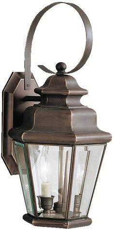 "0-139873>19""""h Savannah Estates 2-Light Outdoor Olde Bronze"