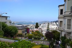 The view from the top of San Francisco's most crooked street.
