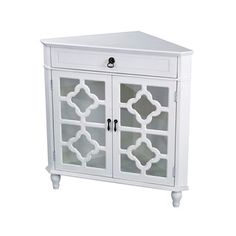 Heather Ann Heirloom Style One (1) Drawer Corner Accent Cabinet - 17815694 - Overstock - Great Deals on Coffee, Sofa & End Tables - Mobile