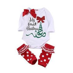 >> Click to Buy << 2017 New Arrive Autumn Cute Newborn Baby Girl Long Sleeve Bow Romper Bodysuit Sock Outfits Clothes Christmas #Affiliate