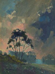 Mark Mehaffey, Approaching Storm, acrylic, 12 x 9.