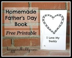 Father's Day Book for Kids to Make (free printable) from Buggy and Buddy