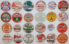 Vintage MILK BOTTLE CAPS Lot of 24 different mix number 3 unused new old stock