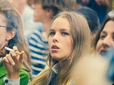 Michelle Phillips, Monterey Pop Festival, 1967, vintage colour photography, sixties music and fashion, culture, beauty.