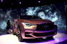 The Renault-Nissan Infiniti Q30 (concept car). Crossover between high end coupé & sedan. Introduced at the 2013 Frankfurt Motor Show by the Formula 1 driver Sebastian Vettel.