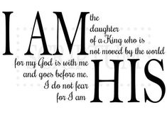 I Am The Daughter Of A King Who Is Not Moved By The World Vinyl Wall Decal
