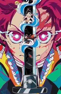 Demon Slayer: Kimetsu No Yaiba manga online Otaku Anime, Manga Anime, Fanarts Anime, Anime Demon, Manga Art, Anime Characters, Wallpaper Anime Hd, Cool Anime Wallpapers, Animes Wallpapers