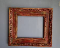 Vintage Open Picture Frame/Recycled Carved by PippinPost on Etsy