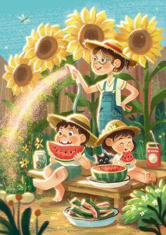 Children's Book Illustration, Character Illustration, Illustrations And Posters, Cute Art, Childrens Books, Book Art, Art Drawings, Character Design, Doodles