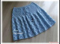 Красивая юбка крючком. Мастер-класс. Beautiful crochet skirt. Tutorial. Автор этой вязаной юбки крючком Алла Логунова (ник в инете АлисиЯ). Такую юбочку крюч...