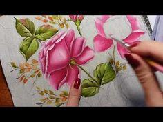 Rosa virada botão (rosa escuro) - Vídeo 2 - Pintura em tecido - YouTube