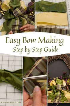 bows Easy to make Elegant Fall wreath for your front door to greet your Fall and Thanksgiving guests. Make a fall wreath that will welcome fall and visitors Diy Bow, Diy Ribbon, Ribbon Bows, Burlap Bows, Diy Fall Wreath, Wreath Crafts, Spring Wreaths, Wreath Bows, Felt Wreath