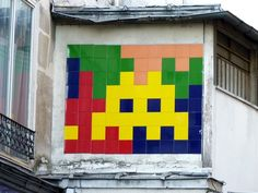 Multicolore Space Invaders, Letters And Numbers, Banksy, Pixel Art, The Dreamers, Mosaic, Symbols, Logos, Inspiration