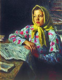 Nikolai Bogdanov-Belsky. A Young Girl.   Early 1900's.