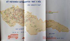 Mail Transport Network in Czechoslovakia 1928.
