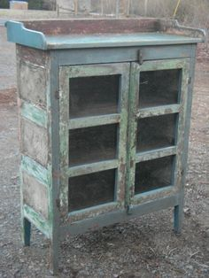 Primitive Antique Pie Safe ... Amazing Painted Finish