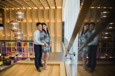 Delta Hotel lobby in Toronto engagement photography by fine art Toronto wedding photographer Lisa Mark.