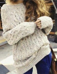 Retro Fashion Women Loose Pullover Sweaters Knitwear