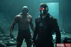 Drax (Dave Bautista) and Star-Lord (Chris Pratt) in Marvel's Guardians of the Galaxy. Get tickets now: http://fandan.co/1thBrQi