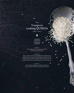 Noon ideas – quinoa salad 3 ways : Chantelle Grady - how to cook quinoa Making Quinoa, How To Cook Quinoa, Quinoa Salad Recipes, Vegetarian Recipes, Real Food Recipes, Real Foods, Stress Food, Ayurvedic Diet, Fruit And Veg