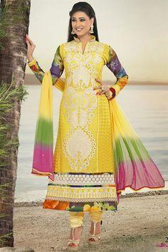 Shweta Tiwari Pure Georgette Designer Suit