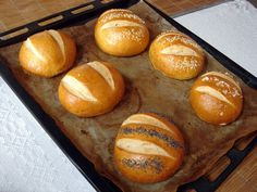 Pretzel zsemle Pretzel, Bagel, Baked Potato, Hamburger, Muffin, Potatoes, Bread, Baking, Breakfast
