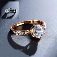 【Fcstyle】【送料無料】中央に大きな高級ジルコニウムを埋め込んだリング 指輪 ゴールド シルバー ダイヤカット 最高級 キラキラ プチプラ | fcstyle
