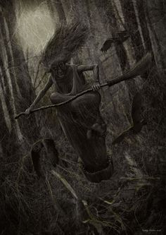 Мрачные картинки,красивые картинки,баба яга,Valery Petelin