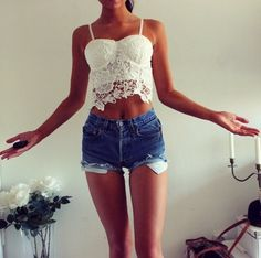 cute outfits with bralettes - Google Search