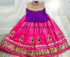 Pink and Purple Zardosi Lehenga - Indian Dresses