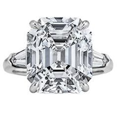 Art Deco Asscher Cut 9.34 Carat Diamond Platinum Engagement Ring