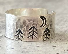 Unique Handmade jewelry for Unique People. by JoyLaRoseJewelry Silver Rings Handmade, Sterling Silver Rings, Handmade Jewelry, Hand Stamped Jewelry, Rings For Her, Forest Theme, Jewelry Making, Ankle, Processing Time