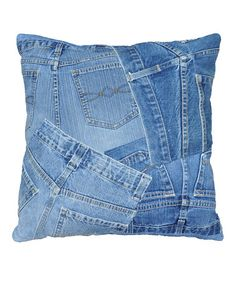 Take a look at this Denim Shorts Runway Pillow by Loloi Rugs on #zulily today!  Great upcycle idea to use old jeans.