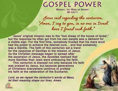 Gospel Power – Monday 1st Week of Advent