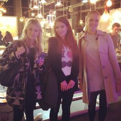 Phoebe, Alex and Laura at the Design Junction preview 2013 #dj13