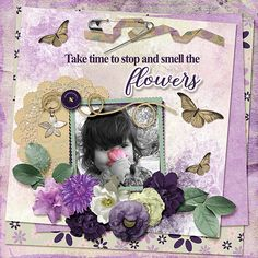 Miss Teyla decided that to smell the tulips you need to pick them first. http://www.godigitalscrapbooking.com/shop/index.php?main_page=product_dnld_info&cPath=129&products_id=31960     May's collab kit Lilies of the Field is gorgeous. Shades of purple from dark to lilac make for lovely flowers and papers. There is some pretty greenery and other bits the bring fun and beauty to your layouts.