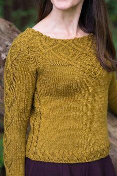 Ravelry: Kitra pattern by Jennifer Wood (Mix Colors Yarn) Cable Knitting, Sweater Knitting Patterns, Knitting Designs, Knit Patterns, Hand Knitting, Knitting Ideas, Jennifer Wood, Knit Picks, Pulls