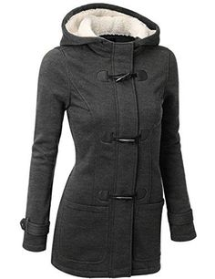 9576f4dcdf1 Want this - Susanny Womens Winter Fashion Outdoor Warm Wool Blended Classic  Pea Coat Jacket Black