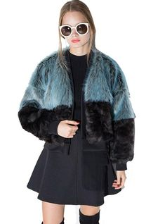 09c6ff3235f0 Women Jacket Fur Coat Block Coats Faux Fur – Lilacoo