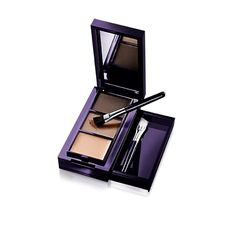 Getting a professional brow look has never been easier. Compact, all-in-one kit has everything you need for creating natural looking and perfectly defined eyebrows. The kit contains 2 blendable brow shadows, 2 angled brushes and a setting wax. Eyebrow Kits, Eyebrow Makeup, Eyebrows, Eyeliner, Eyeshadow, The One, Beauty Box, Beauty Makeup, Makeup Dupes