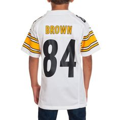 Picture of Pittsburgh Steelers Youth Brown Away Game Jersey Antonio Brown 58b301099