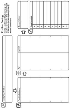 Problem Solving Worksheet - Self-help Guide