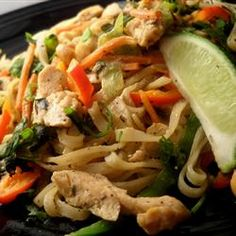 Basil-Chicken Thai Noodles