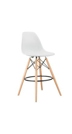 Barstool Slope Chair in White | dotandbo.com