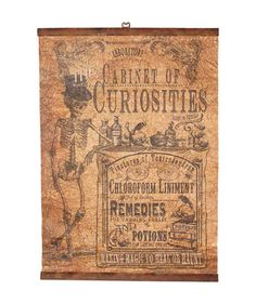 Remedies for the undoing curses from the wicked nurses. Potion tinctures and liniment in the making of magic to heal or haunt. This Cabinet Of Curiosities Wallhanging laboratory sign is made to look v