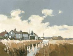 Salthouse Cottages , North Norfolk by John Newland Landscape Art, Landscape Paintings, Abstract Paintings, Art For Art Sake, Painting & Drawing, Watercolour Painting, Contemporary Paintings, Norfolk, Impressionism