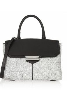 Alexander Wang Marion large cracked-leather shoulder bag   NET-A-PORTER