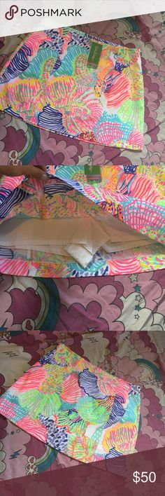 Lilly Pulitzer skurt new Fun colorful skirt with shorts built in skort Lilly Pulitzer Skirts