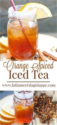 If you're looking for the perfect Christmas dinner beverage, this Orange Spiced Iced Tea is a seasonal take on a Southern favorite. Drinks Alcohol Recipes, Non Alcoholic Drinks, Tea Recipes, Drink Recipes, Cocktails, Christmas Tea, Holiday, Summer Drinks, Cold Drinks